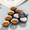 [Супермаркет] Jingdong сто Hong Исин фиолетовый глина руды вручную маленькая чашка маленькая чашка чашка чая кунг-фу чая аксессуары мастер черный фиолетовый чашка 10, установленный приемный бункер с питателем для руды