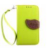 Зеленый дизайн Кожа PU откидная крышка бумажника карты держатель чехол для Samsung Galaxy S4 Mini/I9190 чехол книжка боковой с окошком для samsung galaxy s4 mini i9190 i9192 boostar зеленый