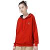 Начало TOYOUTH досуг хеджирование drawstring с капюшоном свитер 8710521012 дата красный M
