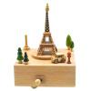 Воспоминания Парк Креативные подарки Игрушки Коробки Коробки Буковые леса Ручная музыкальная шкатулка Туры World French Tower Sky City