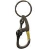 Paulone компас спорта на открытом воздухе EDC инструмент крюк ключа автомобиля кольцо кулон брелок EDC1-052 оружейный металл черны