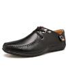 Мужская обувь должны Ч EGCHI Горох британской моды обувь 0525 отдых и бизнес желтовато-коричневый 41 обувь