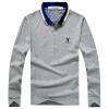 Playboy PLAYBOY футболка мужская бизнес случайный с длинными рукавами рубашки поло отворот футболки 16001PL1902 темно-зеленый 2XL