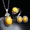 LISHANG ювелирное изделие из янтаря 925 серебряное ювелирныое изделие 3 шт. браслет из янтаря россыпи