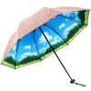 Jingdong [супермаркет] рай зонтик (UPF50 +) двойные цветы карамболь ретро виниловые зонтики сложенный зонтик 31819E розовый upf50 rashguard bodyboard al004