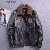 мужчины кожаную куртку, длинные рукава одежды осенью witer подлинного овчины мотоцикл пальто с padding настоящая кожа новейших