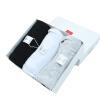 Фенхель (TINSINO) Мужской жилет Полосатый хлопок для похудения Strike Strips Black & White Серый 3шт установлен XXL