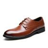 Yicki EGCHI Платье Обувь Мужчины Повседневная одежда Шапки Бизнес Кожаные Туфли Мужчины 36296 Коричневый 44