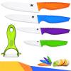 XYJ Марка кухни Набор ножей 3 4 5 6 Fruit Utility нарезка Нож поварской многоцветный Ручка Керамические ножи нож универсальный 12 5 см moulinvilla granate utility kgu 012