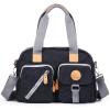 Легко показать новый магазин модной трехмерной мульти-карман холст сумка женская сумка сумка диагональ черный BFK1193