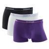 (3 упаковки) Мужское нижнее белье Комфорт хлопок шорты брюки короткий белый + черный + темно-фиолетовый L / 170 maurini брюки maurini m101 13gb 25p темно фиолетовый