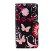 Black-pink Butterfly Design PU Leather Flip Cover Wallet Card Holder Case for Huawei mate 9 japan anime pocket monster pokemon pikachu cosplay wallet men women short purse leather pu coin card holder bag