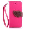Розовый Дизайн Кожа PU откидная крышка бумажника карты держатель чехол для Apple iPhone 7 черный дизайн кожа pu откидная крышка бумажника карты держатель чехол для apple iphone 7