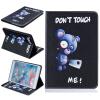 Синий медведь Стиль тиснение Классический откидная крышка с функцией подставки и слот для кредитных карт для iPad Mini 4 орхидея бабочка стиль тиснение классический откидная крышка с функцией подставки и слот для кредитных карт для ipad air 5