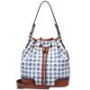 Baifeng (Baifeng) сумка ретро Европы и Соединенных Штатов точка сумка Ma Ka Длинные ничьей с плеча сумка женской голубой точки волны