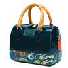 venuco печати мини сумка сумка желе мешок руки способа мешок плеча подушечка темно-зеленый S157