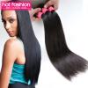Перуанская пряжа Virgin Hair Straight 4 Bundles Горячая мода 7A Перуанская пряжа для волос Virgin, дешевые перуанские прямые волосы для волос Virgin