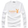 Playboy PLAYBOY футболка мужская мода случайные шею длинными рукавами футболки печать 16057PL2903 белый L