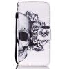 Череп Дизайн Кожа PU откидная крышка бумажника карты держатель чехол для IPHONE 6PLUS цветочный дизайн кожа pu откидная крышка бумажника карты держатель чехол для iphone 7g