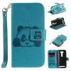 Небесно-голубой Panda Стиль Тиснение Классический откидная крышка с подставкой Функция и слот кредитной карты для ASUS ZenFone 2 Laser ZE500KL