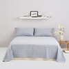 Большая кровать (DAPU) постельное белье домашний текстиль категория кровать кровать хлопок чистая старая ткань постельное белье старый грубый тканевый процесс большие двойные листы серые полосы 1,8 м кровать 240 * 270 см кровать