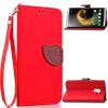 Красный Дизайн Кожа PU откидная крышка бумажника карты держатель чехол для Lenovo K4 Note коричневый дизайн кожа pu откидная крышка бумажника карты держатель чехол для lenovo k3 note