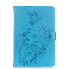 Синий цветок дизайн искусственная кожа флип кошелек карты держатель чехол для IPAD PRO 9.7