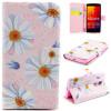 все цены на Розовый цветок дизайн искусственная кожа флип кошелек карты держатель чехол для LG Spirit H422