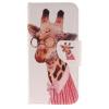 Жираф дизайн Кожа PU откидная крышка бумажника карты держатель чехол для IPHONE 7 цветочный дизайн кожа pu откидная крышка бумажника карты держатель чехол для iphone 7g