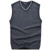 FORTEI свитер мужской без рукавов принять волна точка свитер мужской FT12126 темно-серый XL