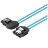 CE-LINK 2630 SATA3 поколение жесткого диска данных кабель локоть высокоскоростной двухканальный жесткий диск последовательный порт алюминиевая фольга кабель поддержка SSD твердотельный жесткий диск правый изогнутый синий 0,45 м самсунг samsung 850 120g sata3 ssd накопители