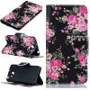 Черные цветы Дизайн PU кожаный чехол флип кошелек карты держатель чехол для HUAWEI Y5 II смартфоны huawei y5 2017 grey