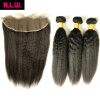13 x 4 Brazilian Virgin Hair Lace frontal With bundles 2 pcs Brazilian Virgin Italian kinky yaki Hair Bundles with frontal full shine 13 2 brazilian lace frontal