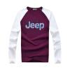 Battlefield Jeep мужской моды случайный с длинными рукавами футболки Тонкий шить шею футболки печать Мужчины 16057Z3002 синий L