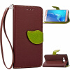 Коричневый Дизайн Кожа PU откидная крышка бумажника карты держатель чехол для Samsung Galaxy J7 красный дизайн кожа pu откидная крышка бумажника карты держатель чехол для samsung galaxy j7