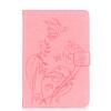 Розовый цветок дизайн искусственная кожа флип кошелек карты держатель чехол для IPAD 5