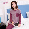 (Conlia) женская одежда для дома пижамы 2017 весна и лето новые с длинными рукавами брюки хеджирование костюм фиолетовый красный XXL 631621202805