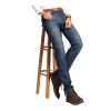 lucassa джинсы мужские повседневные повседневные джинсы мужские простые джинсовые брюки 087LL темно-синий 34