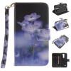 Синий цветок дизайн искусственная кожа флип кошелек карты держатель чехол для LG K7 синий цветок дизайн искусственная кожа флип кошелек карты держатель чехол для lg k4