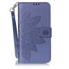 Синий цветок дизайн искусственная кожа флип кошелек карты держатель чехол для LG K7 asus zenfone go zb500kg 8gb белый