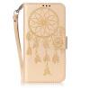 Золотой Ветер Chime Дизайн Кожа PU откидная крышка бумажника карты держатель чехол для HUAWEI Y6 II смартфон huawei y6 pro золотой