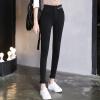 KuoyiHouse 0028 2017 новая высокая талия девять очков брюки женские джинсы весна черный стрейч брюки брюки брюки брюки плотно плотно тонкие ноги брюки черный XL