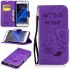 Фиолетовый тисненый тисненый классический флип-чехол с функцией подставки и слотом для кредитных карт для Samsung Galaxy S7 edge чехол для iphone 5 глянцевый с полной запечаткой printio dota 2 shadow fiend