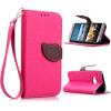 Розовый Дизайн Кожа PU откидная крышка бумажника карты держатель чехол для HTC One M9 розовый дизайн кожа pu откидная крышка бумажника карты держатель чехол для htc one a9