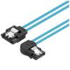 CE-LINK 2628 SATA3 от имени жесткого диска данных кабель локтем высокоскоростной двухканальный жесткий диск последовательный алюминиевый фольга кабель поддержка SSD твердотельный жесткий диск левый синий 0,45 метра самсунг samsung 850 120g sata3 ssd накопители