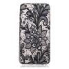 Фото Black Rose Pattern Мягкий тонкий ТПУ Резиновая крышка силиконовый гель чехол для IPHONE 6 Plus/6S Plus gumai silky case for iphone 6 6s black