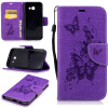 Фиолетовая бабочка с тиснением Классическая флип-обложка с функцией подставки и слотом для кредитных карт для SAMSUNG Galaxy A5 2017/A520