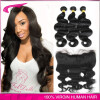 Top Grade Brazilian virgin Hair Body Wave 3 Bundles With ear to ear lace frontal with Baby Hair 13*4 lace closure Free shipping