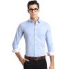 СУТОРА Мужская деловая посведневная рубашка с длинным рукавом и классическим воротником, натуральный хлопок