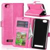Розовая красная классическая флип-обложка с функцией подставки и слотом для кредитных карт для Lenovo Vibe C/A2020 смартфон lenovo vibe c a2020 a2020a40 white
